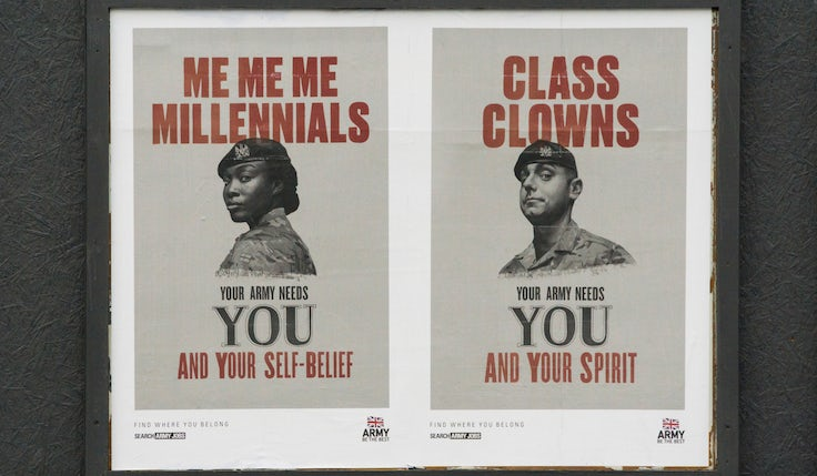 British Army recruitment Snowflakes campaign