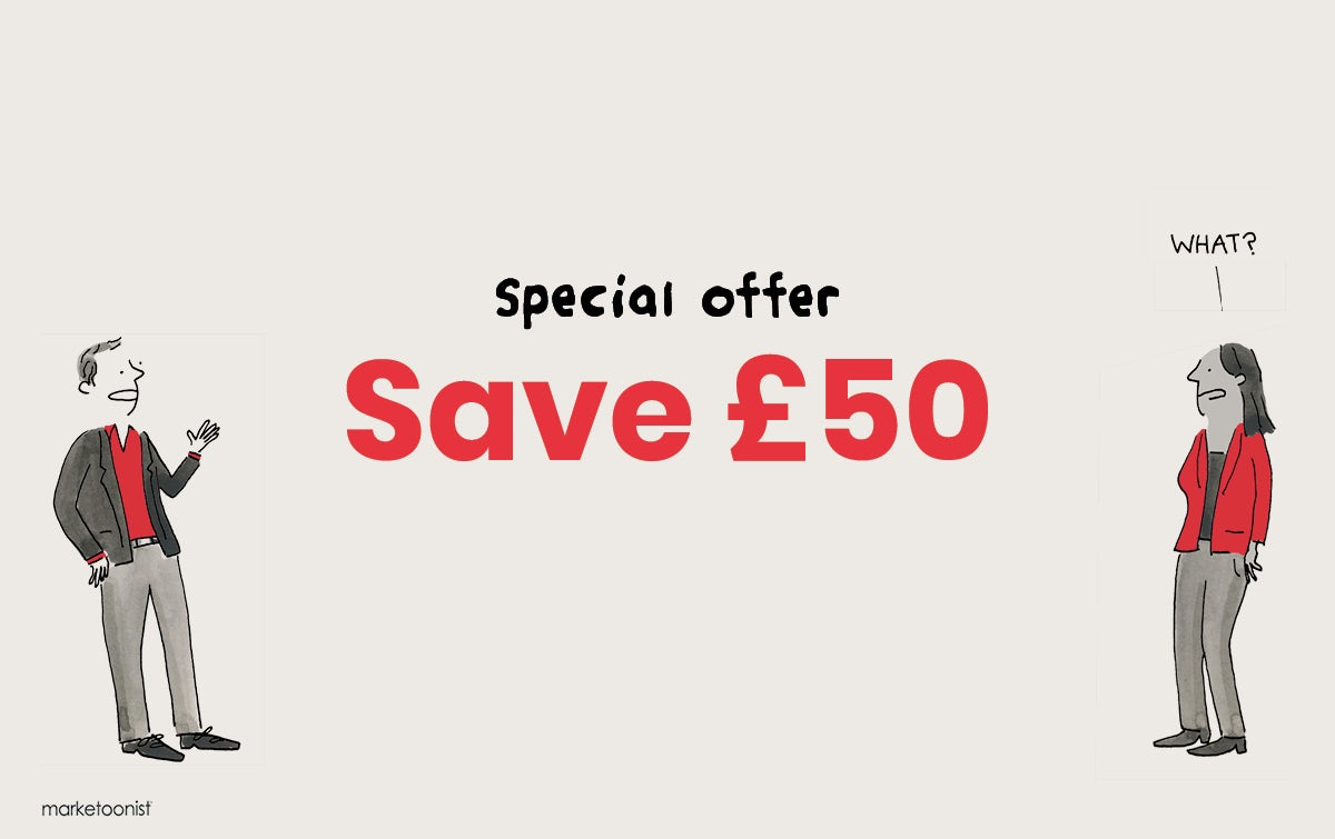 Special offer | Save £50 >