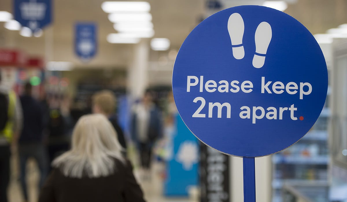 Tesco campaign urges shoppers to social distance