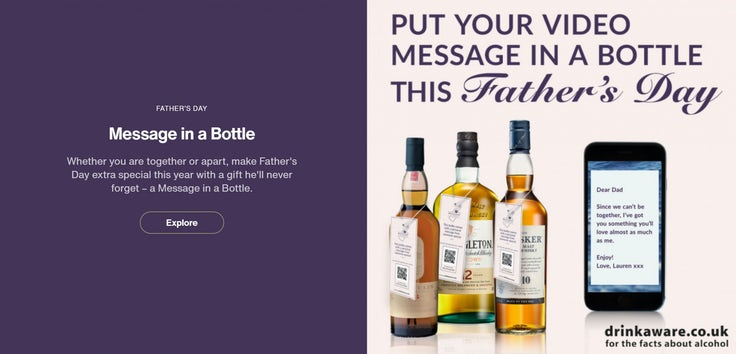 diageo personalised gifting