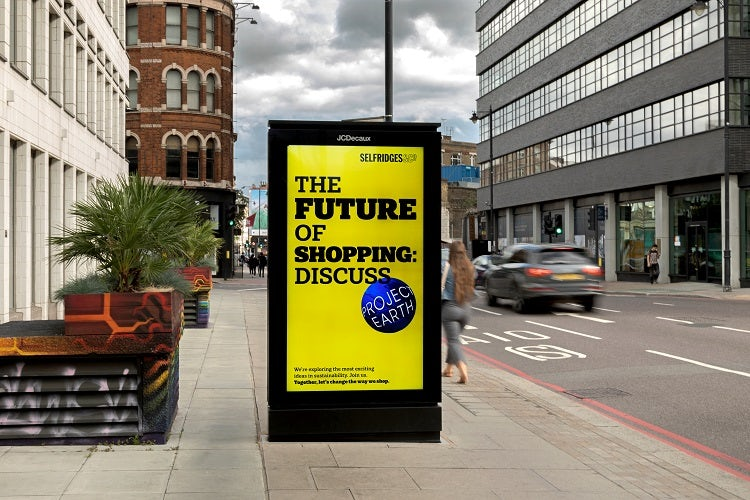 Selfridges Project Earth poster
