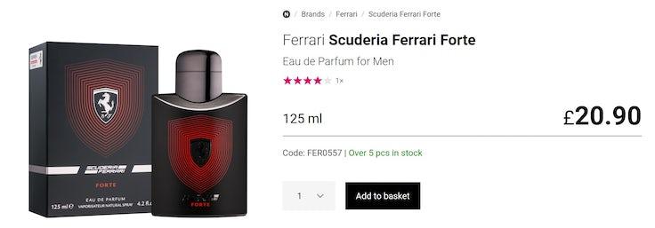 Ferrari perfume