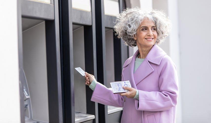 Starling Bank older female consumer